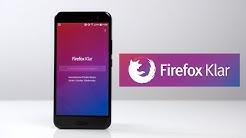 Der sicherste Browser für Android: Firefox Klar (Deutsch) | SwagTab