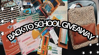 Back To School Giveaway 2020! | *Closed*
