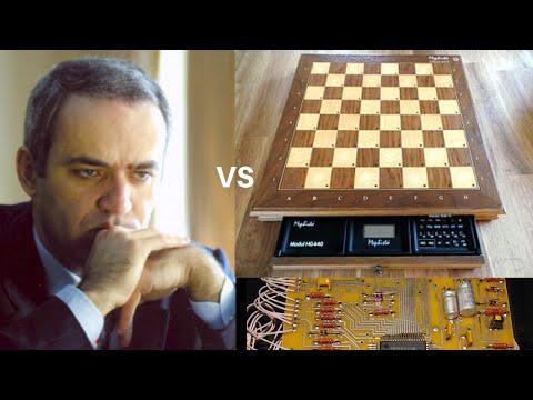 Amazing Nostalgic Computer Chess Game: Kasparov vs Mephisto Computer || Kings Indian Attack System