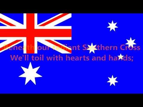 Advance Australia Fair - National Anthem of Australia (English lyrics)