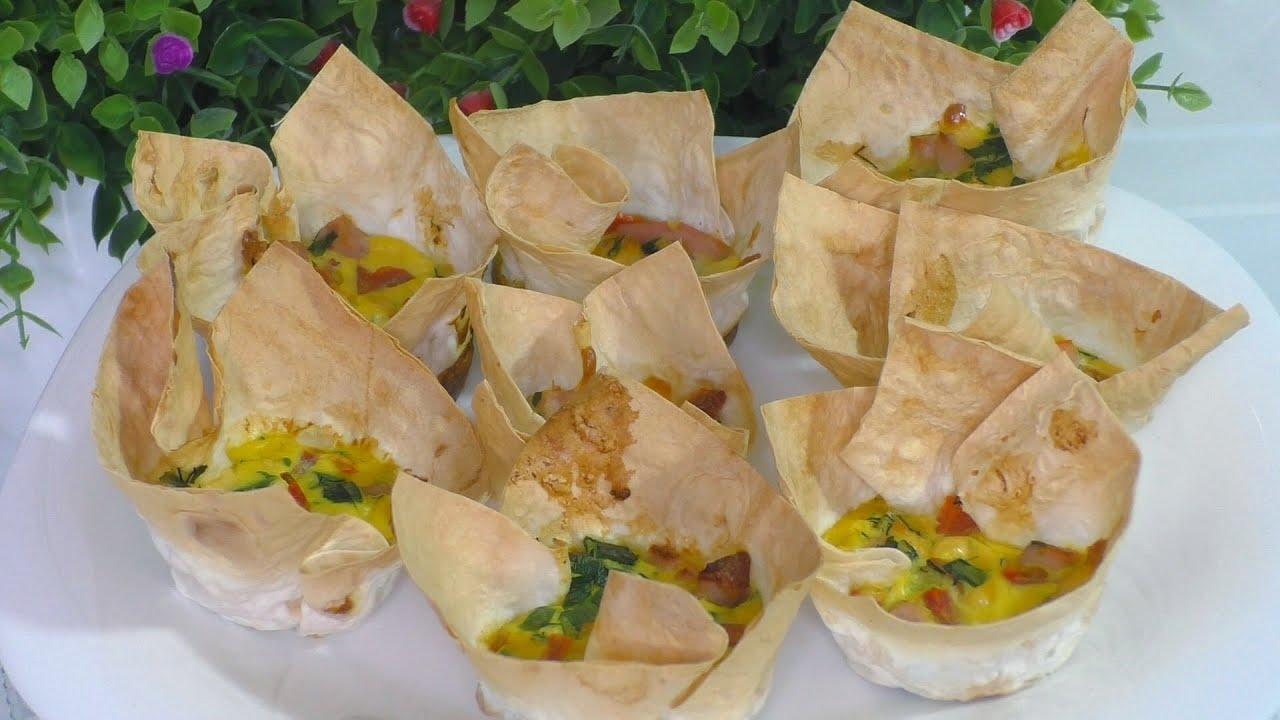ЗАВТРАК ЗА ТРИ МИНУТЫ Завтрак для ленивых ЗАВТРАК ИЗ ЛАВАША Вкусно быстро Простая закуска из лаваша