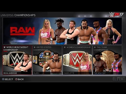WWE 2K17 Universe Mode - New Features, Interface & HUD Preview Screens