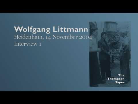 Wolfgang Littmann, 14 November 2004, Heidenhain - Interview 1