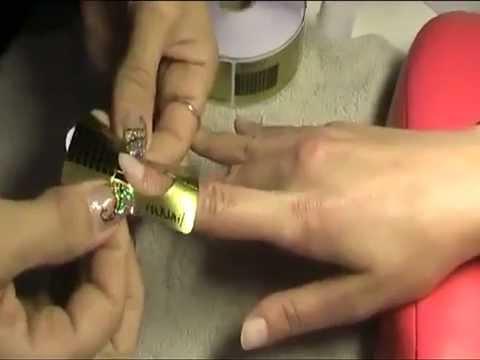 Наращивание ногтей  Установка формы