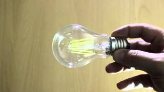 LED bulb Filament 6W, Cool White, E27. Светодиодная лампа