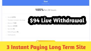 100% Long Term 3 best new site. Instant Payment with LIVE payment proof.