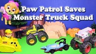 PAW PATROL Nickelodeon Paw Patrol Saves Monster Truck Squad a PAw Patrol Video Parody