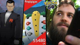 My First Battle With Giovanni + Regigigas EX Raid - FINALLY! AN ACTUAL CHALLENGE! (Pokemon Go)