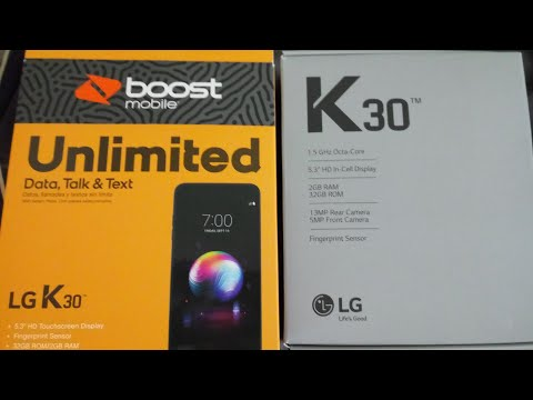 #BoostMobile #AlohaAndroid LG K30 Boost Mobile Unboxing