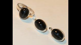 Кольцо серьги кошачий глаз натуральный скаполит серебро 925%