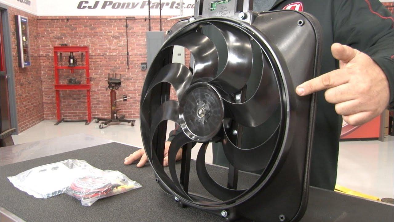 Mustang Flex A Lite Electric Fan Kit Black Magic S Blade