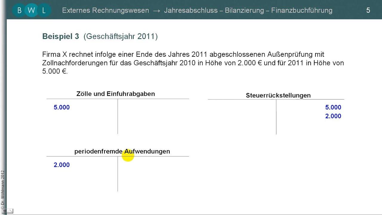 Finanzbuchführung Und Bilanzierung Rückstellungen 249 Hgb