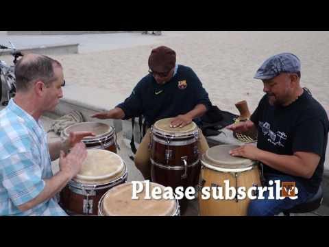 Rumba Guaguancó Jam in Santa Monica Beach, California