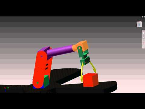 Dynamic Simulation of Robotic Arm Movement