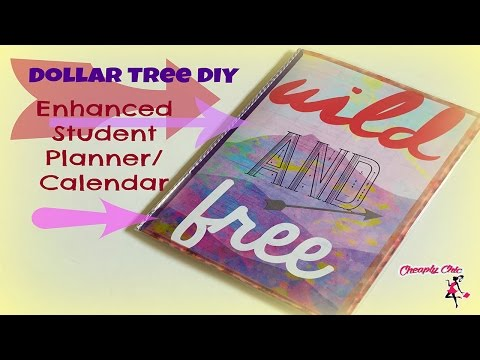 Dollar Tree DIY: Highly Requested Student Planner / Calendar Tutorial!