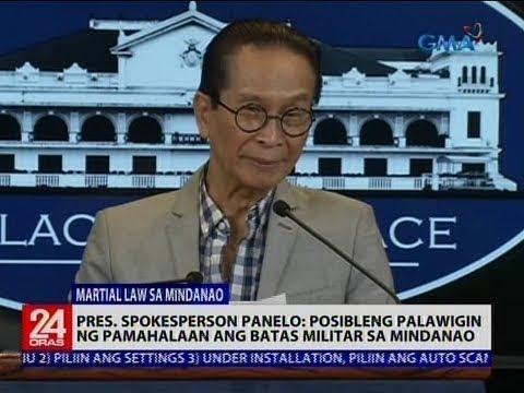 Pres. Spokesperson Panelo: Posibleng palawigin ng pamahalaan ang batas militar sa Mindanao