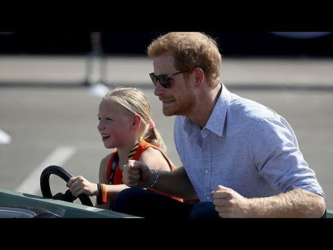 Prince Harry taken for a spin in mini SUV by a five-year-old