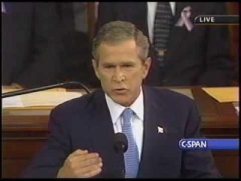 George Bush Post 9/11 speech pt 1