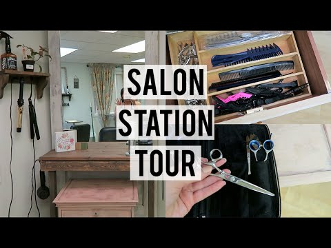 SALON STATION TOUR + WHAT TOOLS I STILL USE FROM BEAUTY SCHOOL