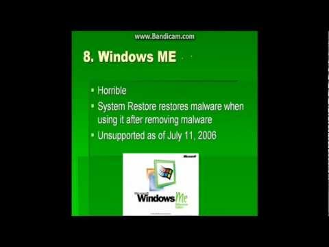 Top Ten Windows Operating Systems
