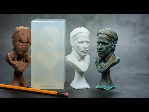 How to make a silicone mold and resin casting tutorial (feat. John Wick)