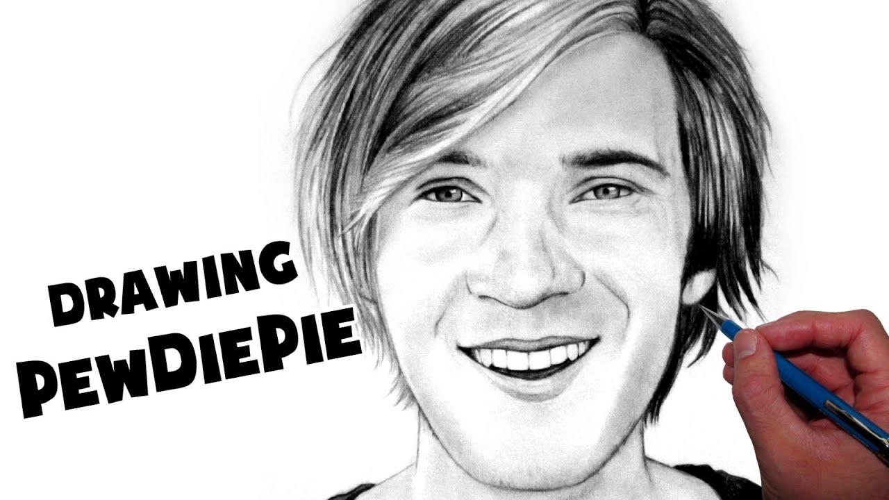 Pewdiepie Drawing - Fan Art Time Lapse