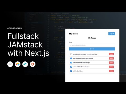 Setup Authentication in Next.js with Auth0 - Fullstack Jamstack with Next.js (7)