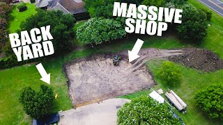 Building a MASSIVE DREAM SHOP in our BACK YARD!!