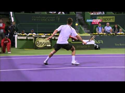 Federer   Chiudinelli amazing point Marco