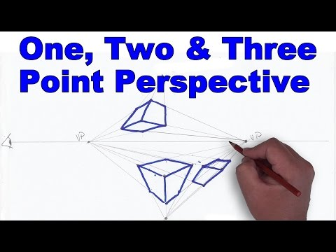 How to Draw in One Two and Three Point Perspective Tutorial