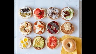 Bagels 8 Ways - Easy Breakfast Recipes - Weelicious