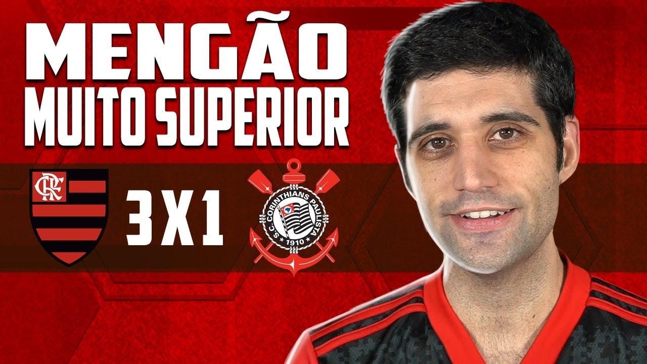 Flamengo 3 x 1 Corinthians - Mengão MUITO superior