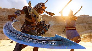 Assassin's Creed Origins - The Cursed Pharaoh Siwan Sickle Rampage & Stealth Kills Gameplay