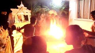 Traditional Sri Lankan Devil Dance Banishing Demons, Sri Lankan Drummers Drumming