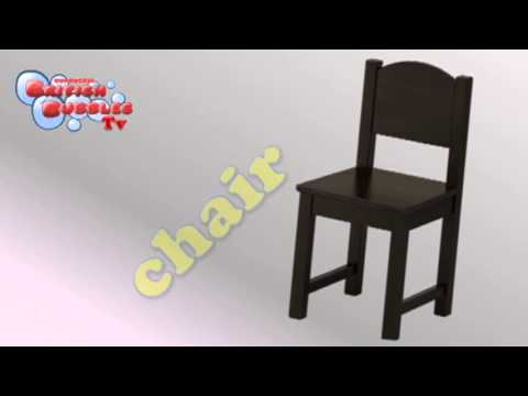 Aprender los muebles en ingles para nios  YouTube
