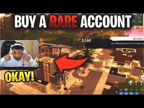 So I donated $150 to MYTH to BUY a 'RARE' Fortnite Account and this happened...