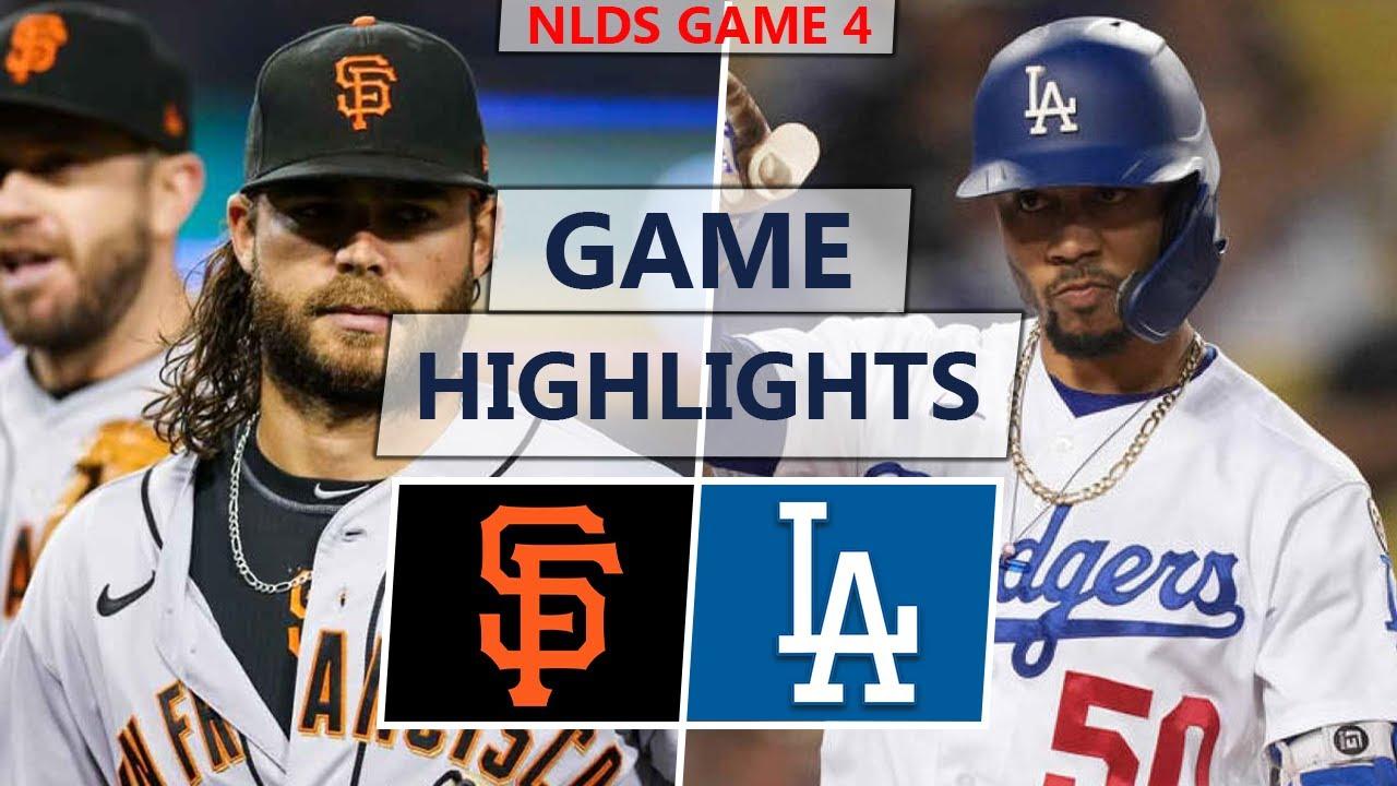 San Francisco Giants vs. Los Angeles Dodgers Highlights | NLDS Game 4 (2021)