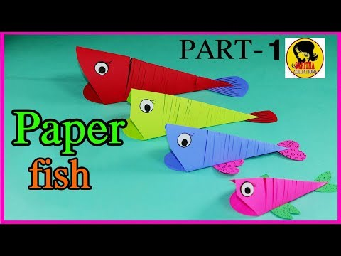 How to make Easy Moving Paper Fish PART-1|Paper Crafts for Kids|3D Paper Fish for Kids|DIY