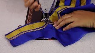 Blouse Neck Designs Cutting and Stitching in Telugu