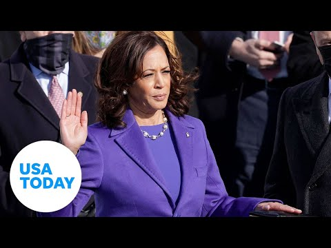 Kamala Harris takes oath of office to become first female Vice President in US history   USA TODAY