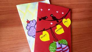 DIY Fathers Day Card || Simple and Easy Card Making for KIDS Papercrafts
