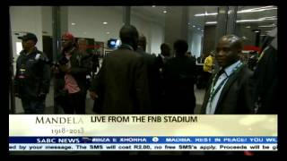 More dignitaries arriving for Mandela memorial service