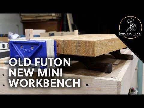 Old futon, new mini workbench (with commentary)