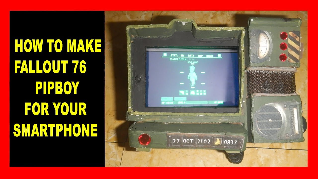 HOW to MAKE: FALLOUT 76 PIPBOY for YOUR SMARTPHONE