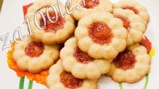 Песочное печенье к чаю (видео-рецепт)(На странице http://za100le.ru/baking/pesochnoe-pechene-k-chayu.html Вас ждут подробные фото этого рецепта., 2014-02-22T08:05:49.000Z)