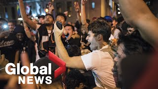 NBA Finals: Raptors fans celebrate Game 4 win at home and in G…