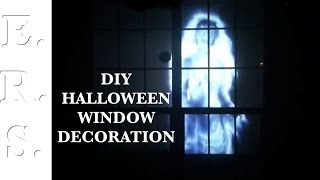 Haunted house effect at your window for Halloween with atmosfear fx dvd