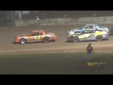 IMCA Stock Car Feature Luxemburg Speedway Luxemburg Wisconsin 8/18/17