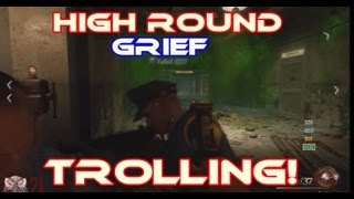 high round grief cell block trolled game bo2 zombies
