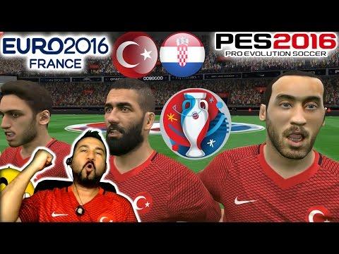 PES 2016 ile EURO 2016 #1 | TÜRKİYE-HIRVATİSTAN